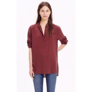Madewell Silk Cinema Popover Blouse